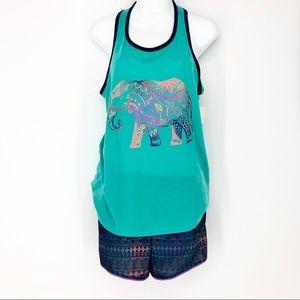 SO Girls Plus 18.5 Boho Elephant Summer Pajama Set